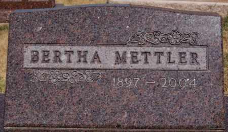 METTLER, BERTHA - Hutchinson County, South Dakota | BERTHA METTLER - South Dakota Gravestone Photos