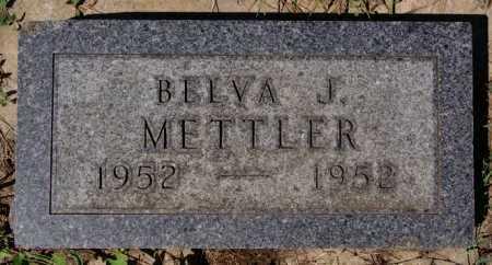 METTLER, BELVA J - Hutchinson County, South Dakota | BELVA J METTLER - South Dakota Gravestone Photos