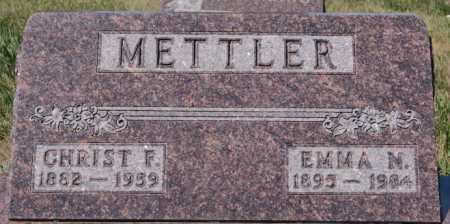 METTLER, CHRIST F - Hutchinson County, South Dakota | CHRIST F METTLER - South Dakota Gravestone Photos