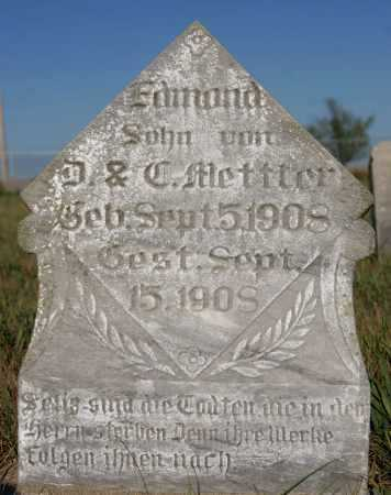 METTLER, EDMOND - Hutchinson County, South Dakota | EDMOND METTLER - South Dakota Gravestone Photos