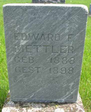 METTLER, EDWARD F. - Hutchinson County, South Dakota | EDWARD F. METTLER - South Dakota Gravestone Photos