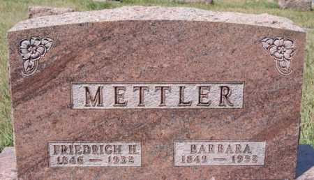 METTLER, BARBARA - Hutchinson County, South Dakota | BARBARA METTLER - South Dakota Gravestone Photos