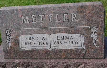 METTLER, FRED A. - Hutchinson County, South Dakota | FRED A. METTLER - South Dakota Gravestone Photos