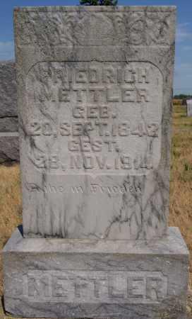 METTLER, FRIEDRICH SR. - Hutchinson County, South Dakota | FRIEDRICH SR. METTLER - South Dakota Gravestone Photos