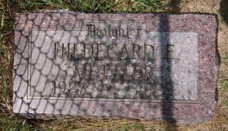 METTLER, HILDEGARD E - Hutchinson County, South Dakota | HILDEGARD E METTLER - South Dakota Gravestone Photos