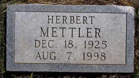 METTLER, HERBERT - Hutchinson County, South Dakota | HERBERT METTLER - South Dakota Gravestone Photos