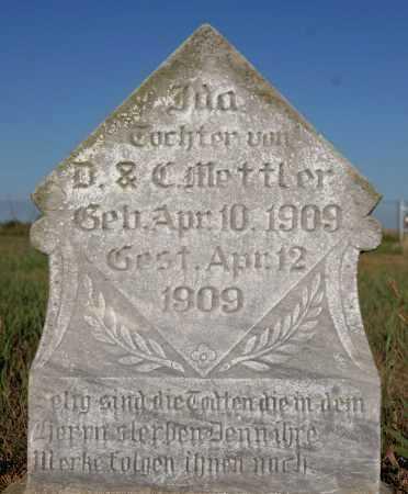 METTLER, IDA - Hutchinson County, South Dakota   IDA METTLER - South Dakota Gravestone Photos