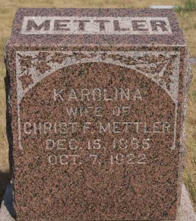 METTLER, KAROLINA - Hutchinson County, South Dakota | KAROLINA METTLER - South Dakota Gravestone Photos