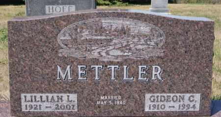 METTLER, LILLIAN L - Hutchinson County, South Dakota | LILLIAN L METTLER - South Dakota Gravestone Photos