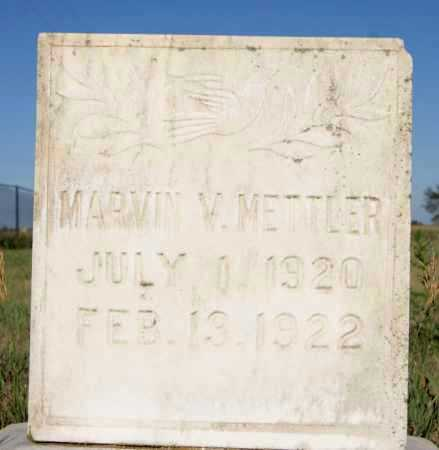 METTLER, MARVIN V - Hutchinson County, South Dakota | MARVIN V METTLER - South Dakota Gravestone Photos