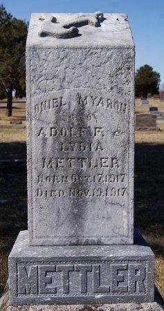 METTLER, ONIEL MYARON - Hutchinson County, South Dakota | ONIEL MYARON METTLER - South Dakota Gravestone Photos