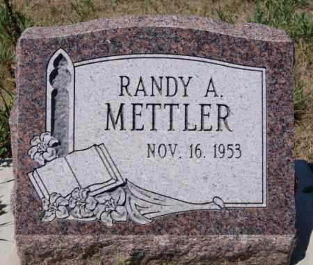METTLER, RANDY A - Hutchinson County, South Dakota | RANDY A METTLER - South Dakota Gravestone Photos