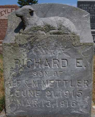 METTLER, RICHARD E - Hutchinson County, South Dakota | RICHARD E METTLER - South Dakota Gravestone Photos