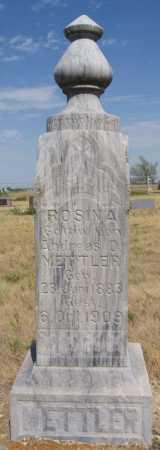 METTLER, ROSINA - Hutchinson County, South Dakota   ROSINA METTLER - South Dakota Gravestone Photos
