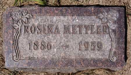 METTLER, ROSINA - Hutchinson County, South Dakota | ROSINA METTLER - South Dakota Gravestone Photos
