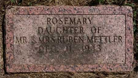 METTLER, ROSEMARY - Hutchinson County, South Dakota | ROSEMARY METTLER - South Dakota Gravestone Photos