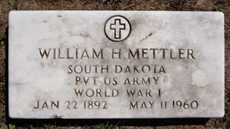 METTLER, WILLIAM H (WW I) - Hutchinson County, South Dakota | WILLIAM H (WW I) METTLER - South Dakota Gravestone Photos