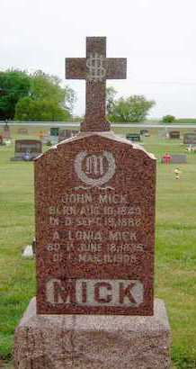 MICK, ABLONIA - Hutchinson County, South Dakota | ABLONIA MICK - South Dakota Gravestone Photos
