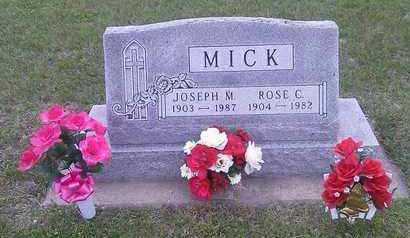 MICK, JOSEPH - Hutchinson County, South Dakota | JOSEPH MICK - South Dakota Gravestone Photos
