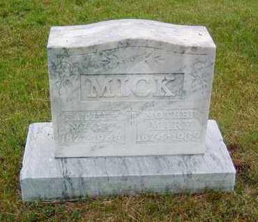 MICK, NICK - Hutchinson County, South Dakota | NICK MICK - South Dakota Gravestone Photos
