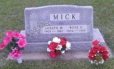 MICK, ROSE C. - Hutchinson County, South Dakota | ROSE C. MICK - South Dakota Gravestone Photos