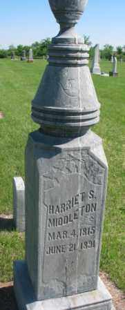 MIDDLETON, HARRIET S. - Hutchinson County, South Dakota | HARRIET S. MIDDLETON - South Dakota Gravestone Photos