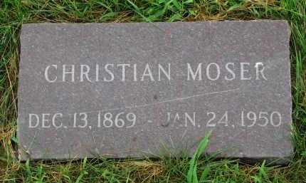 MOSER, CHRISTIAN - Hutchinson County, South Dakota | CHRISTIAN MOSER - South Dakota Gravestone Photos