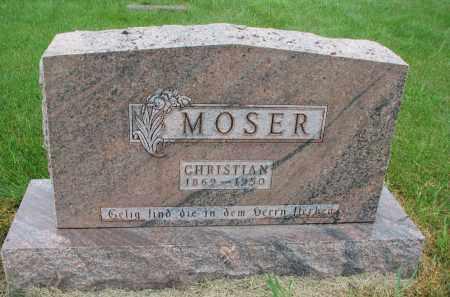 MOSER, CHRISTIAN - Hutchinson County, South Dakota | CHRISTIAN MOSER - South Dakota Gravestone Photos