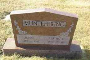 MUNTEFERING, JOHN - Hutchinson County, South Dakota | JOHN MUNTEFERING - South Dakota Gravestone Photos