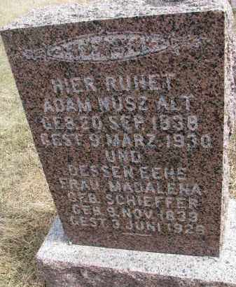 SCHIEFFER NUSZ, MADALENA - Hutchinson County, South Dakota | MADALENA SCHIEFFER NUSZ - South Dakota Gravestone Photos