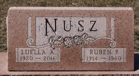 NUSZ, LUELLA A - Hutchinson County, South Dakota | LUELLA A NUSZ - South Dakota Gravestone Photos