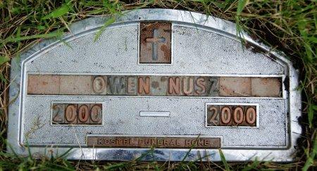 NUSZ, OWEN - Hutchinson County, South Dakota   OWEN NUSZ - South Dakota Gravestone Photos
