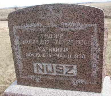 NUSZ, PHILIPP - Hutchinson County, South Dakota | PHILIPP NUSZ - South Dakota Gravestone Photos