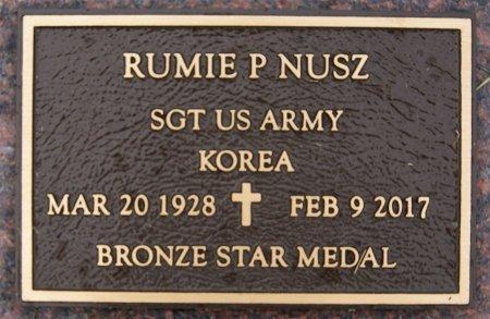 NUSZ, RUMIE P (KOREA) - Hutchinson County, South Dakota | RUMIE P (KOREA) NUSZ - South Dakota Gravestone Photos