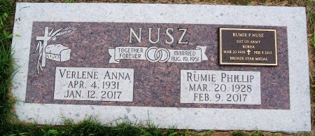 NUSZ, RUMIE PHILLIP - Hutchinson County, South Dakota | RUMIE PHILLIP NUSZ - South Dakota Gravestone Photos