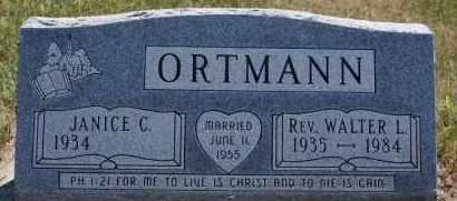 ORTMANN, WALTER L - Hutchinson County, South Dakota | WALTER L ORTMANN - South Dakota Gravestone Photos