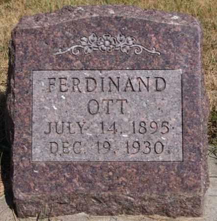 OTT, FERDINAND - Hutchinson County, South Dakota   FERDINAND OTT - South Dakota Gravestone Photos