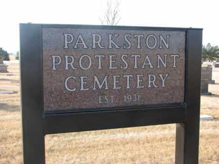 *PARKSTON, SIGN - Hutchinson County, South Dakota | SIGN *PARKSTON - South Dakota Gravestone Photos