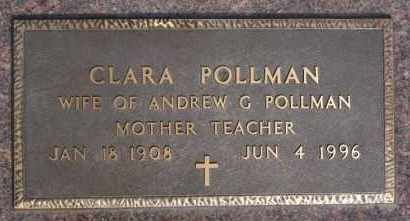 POLLMAN, CLARA - Hutchinson County, South Dakota | CLARA POLLMAN - South Dakota Gravestone Photos