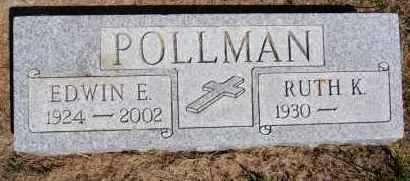 POLLMAN, EDWIN E - Hutchinson County, South Dakota   EDWIN E POLLMAN - South Dakota Gravestone Photos