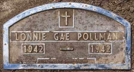 POLLMAN, LONNIE GAE - Hutchinson County, South Dakota | LONNIE GAE POLLMAN - South Dakota Gravestone Photos