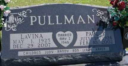 PULLMAN, PAUL P - Hutchinson County, South Dakota | PAUL P PULLMAN - South Dakota Gravestone Photos