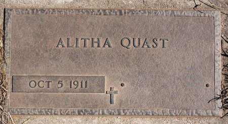 QUAST, ALITHA - Hutchinson County, South Dakota | ALITHA QUAST - South Dakota Gravestone Photos
