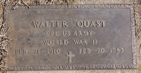 QUAST, WALTER (WWII) - Hutchinson County, South Dakota | WALTER (WWII) QUAST - South Dakota Gravestone Photos