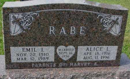 RABE, EMIL I. - Hutchinson County, South Dakota | EMIL I. RABE - South Dakota Gravestone Photos