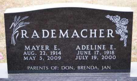 RADEMACHER, ADELINE E - Hutchinson County, South Dakota | ADELINE E RADEMACHER - South Dakota Gravestone Photos