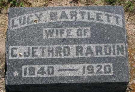 BARTLETT RARDIN, LUCY - Hutchinson County, South Dakota   LUCY BARTLETT RARDIN - South Dakota Gravestone Photos