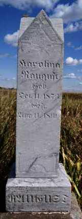 SCHMITKE RAUGUST, KAROLINA - Hutchinson County, South Dakota | KAROLINA SCHMITKE RAUGUST - South Dakota Gravestone Photos