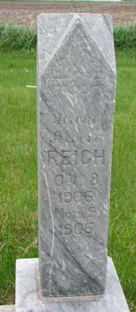 REICH, ALBERT - Hutchinson County, South Dakota   ALBERT REICH - South Dakota Gravestone Photos
