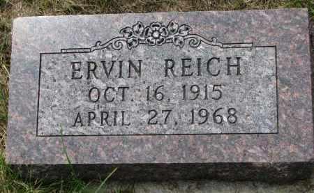 REICH, ERVIN - Hutchinson County, South Dakota   ERVIN REICH - South Dakota Gravestone Photos
